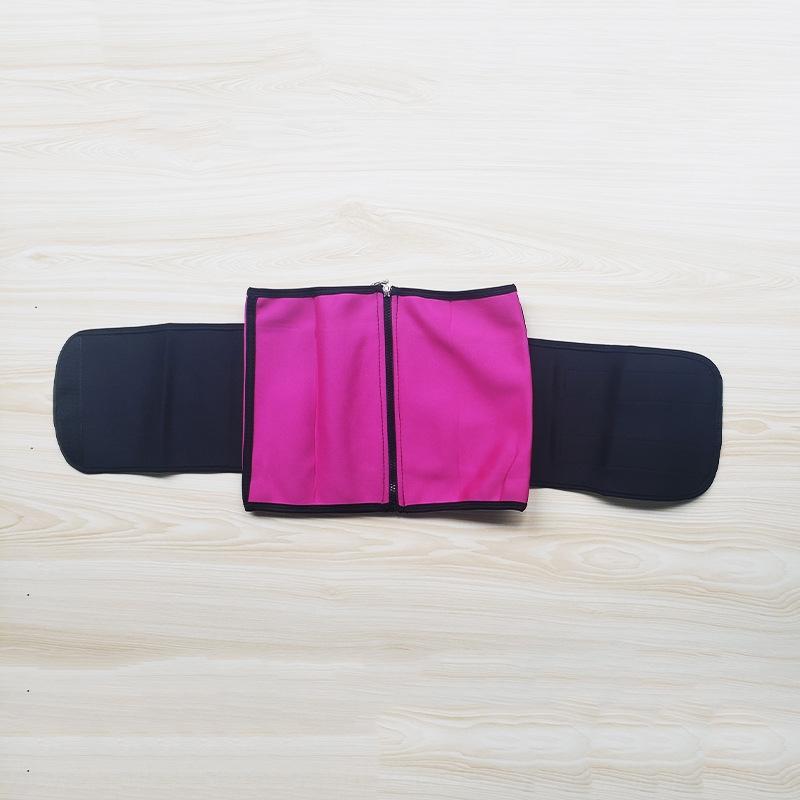 ZCn2E 3 Apoio de borracha de dupla camada de barriga para cobrir 3 peças correspondentes esportes Swea clothi-moldar o corpo roupas de borracha de dupla camada das mulheres