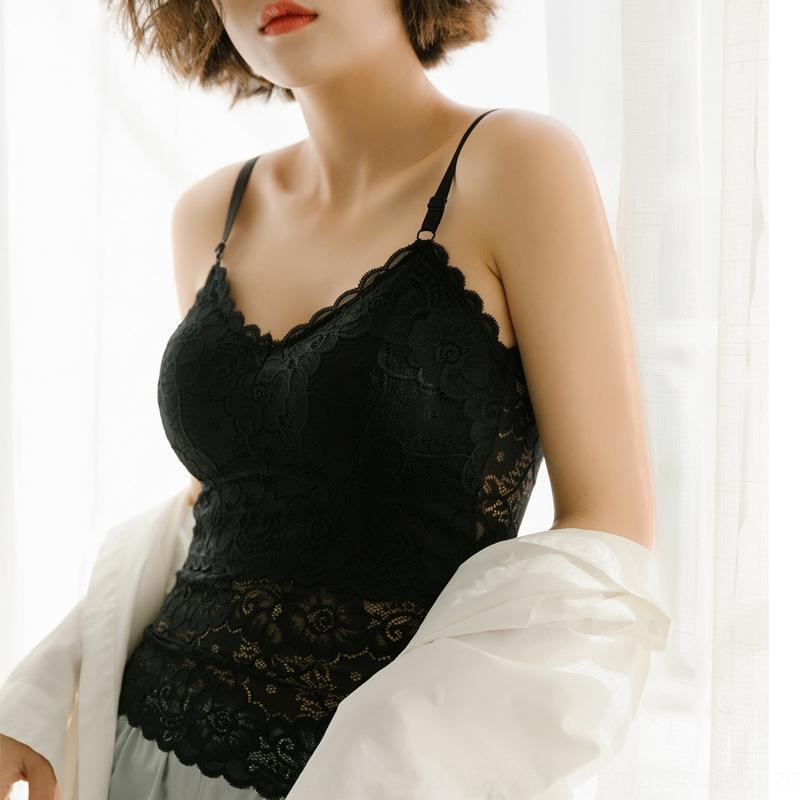 anti-esposizione a canotta da donna petto avvolto sotto con biancheria intima di pizzo Top rilievo della cassa sexy del merletto indietro top usura esterna
