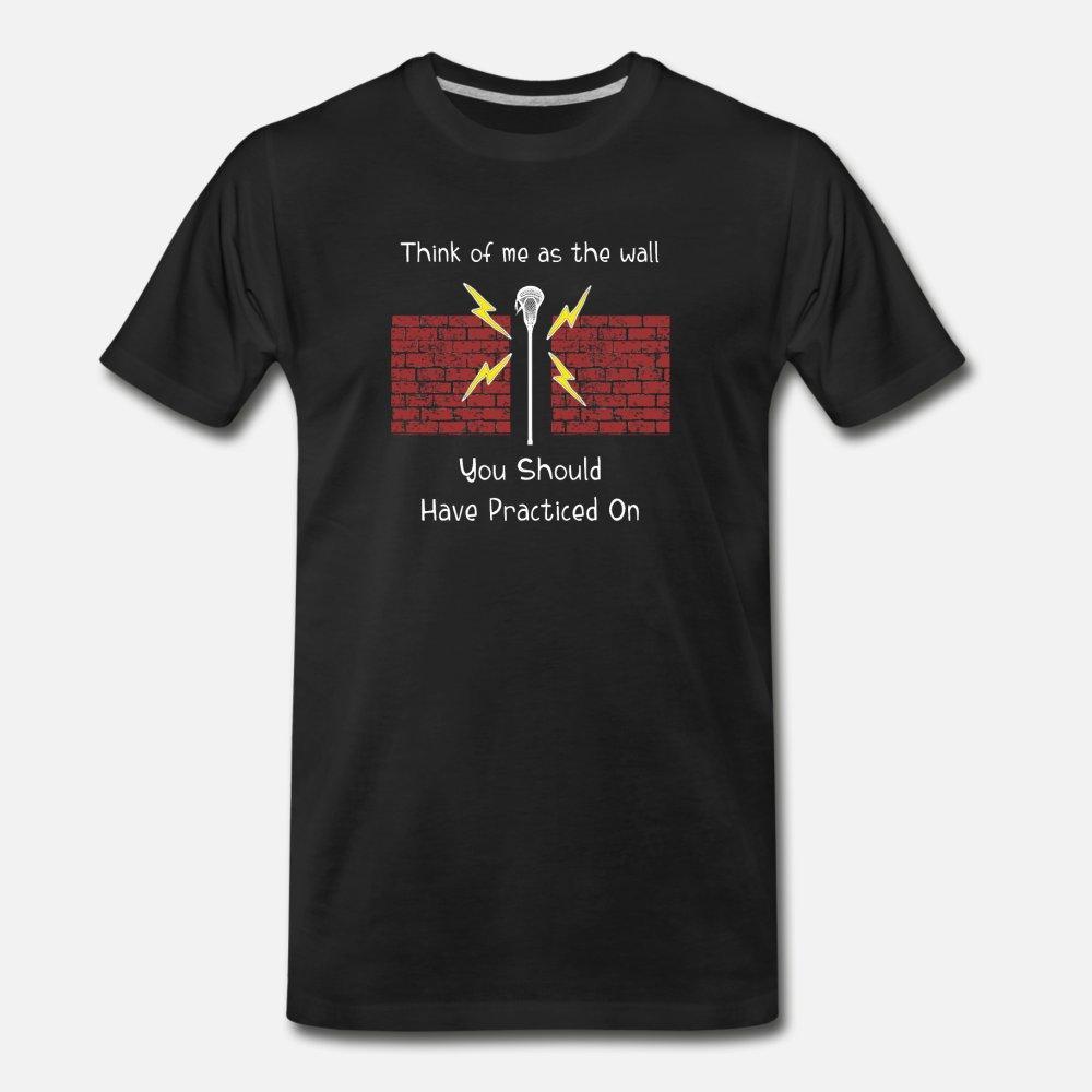Lacrosse Kaleci pamuk S-3XL Standart Gevşek Mizah İlkbahar Sonbahar Aile gömlek baskılı Me As Wall Sen t gömlek erkekler Of düşünün