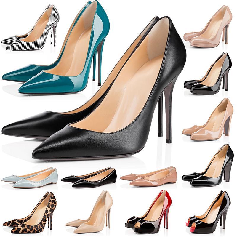 빨간색 하이 하이힐 여성 신발 파티 웨딩 트리플 블랙 누드 노란색 핑크색 반짝이 스파이크 뾰족한 발가락 펌프 드레스 신발