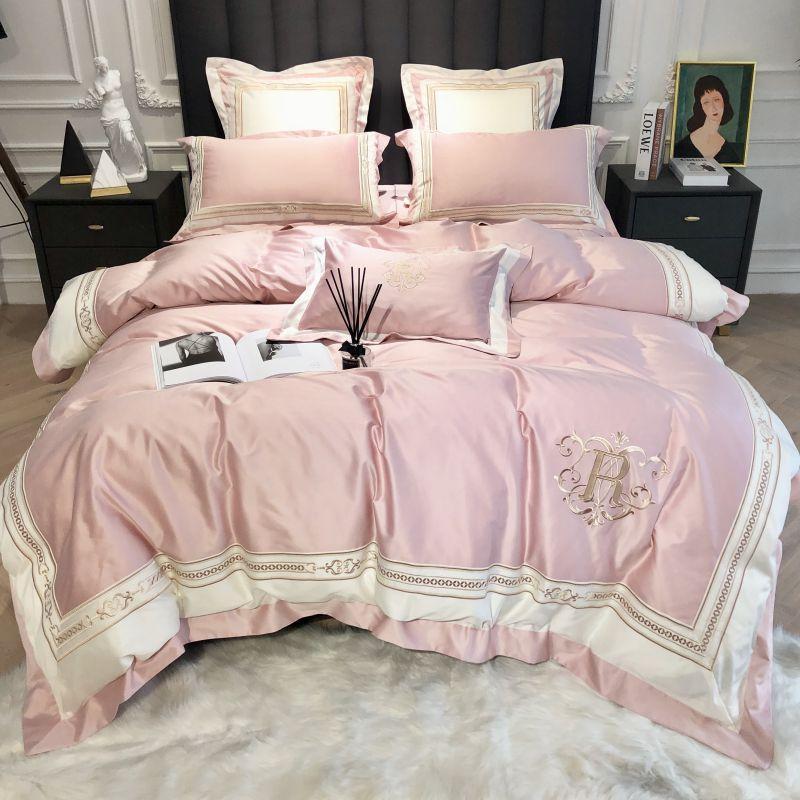 1000TC القطن المصري الفراش يحدد الملكة الملك الحجم الكلاسيكية التطريز سرير غطاء لحاف ورقة ملاءات مجموعة مجموعة