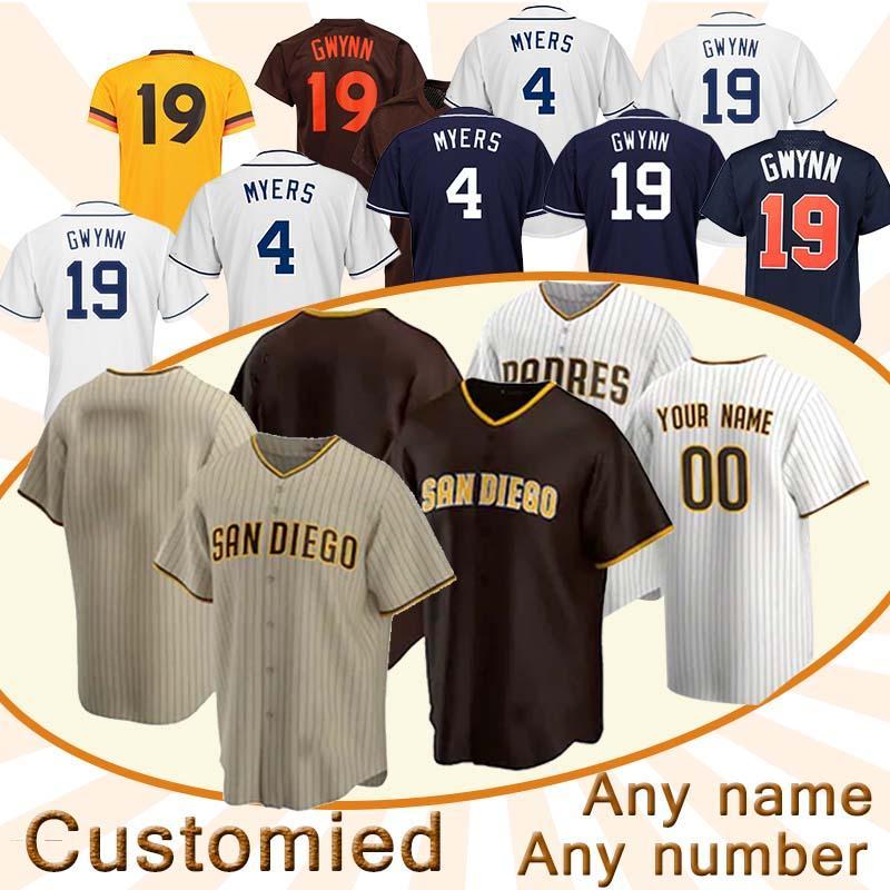 San Diego Padres 2020 Jersey Fernando Tatis Jr Manny Machado Eric Hosmer Wil Myers Luis Urie Austin Hedges maillots de baseball Mejia 20 21