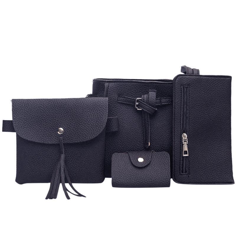 4pcs Moda feminina Shoulder Bag Pequenos sacos para as mulheres 2020 ombro de luxo saco preto de Moda de Nova Sac femme 9,27