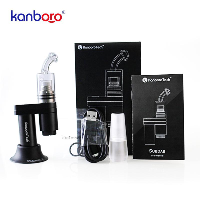 Kanboro Subdab elettrico Dab Rig Concentrato di cera olio vaporizzatore Kit con 18350 batteria di vetro Bubbler tubo Dabber rnail E Cigarette erbe Vape