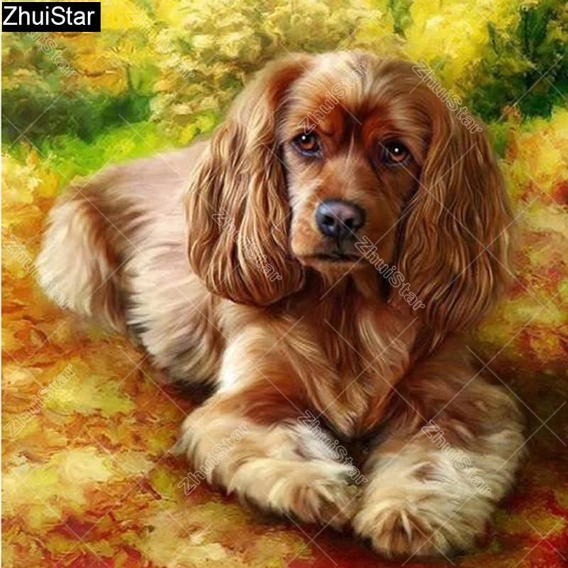 Tiere Diamant-Stickerei Diy Querheftungs-Diamant-Malerei Hund Bild von Strass Mosaic Factory Direct-Dekor XY1