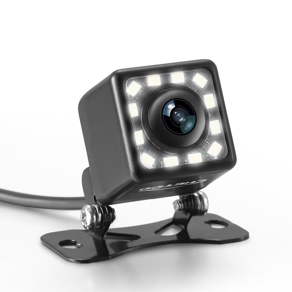 12 LED Visión nocturna Luz Coche Vista posterior Cámara Aparcamiento Universal Aparcamiento Impermeable 170 Ancho Angle HD Color Imagen