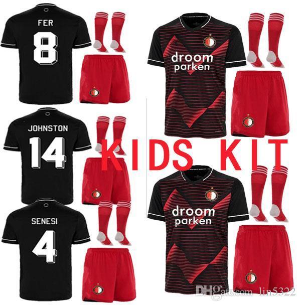 2020 Newest Socks Feyenoord 20 21 Soccer Jersey Home Away Black 2020 2021 V Persie Larsson Berghuis Vilhena Jorgensen Jersey Shirt Boys From Lin5322 12 66 Dhgate Com