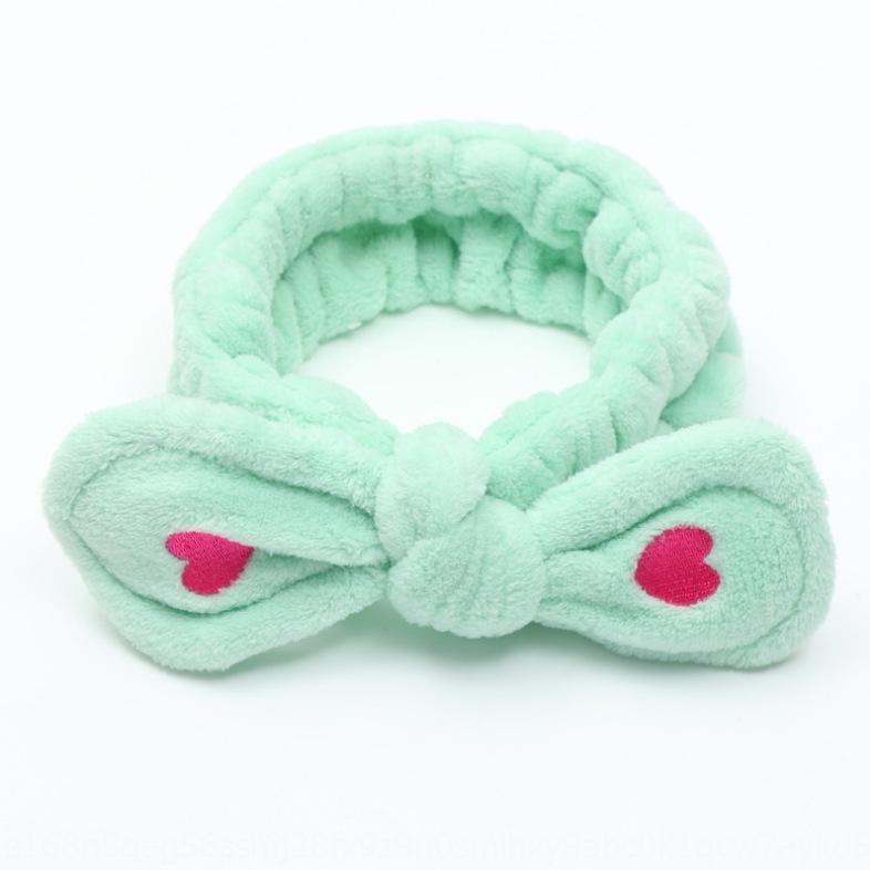 amore stile coreano ricamato arco di flanella faccia accessori lavaggio banda di trucco accessori per capelli fascia per capelli