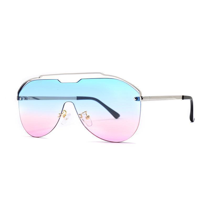 2020 novas senhoras um pedaço pedaço óculos de metal quadro UV400 moda óculos caixa adquirido separadamente