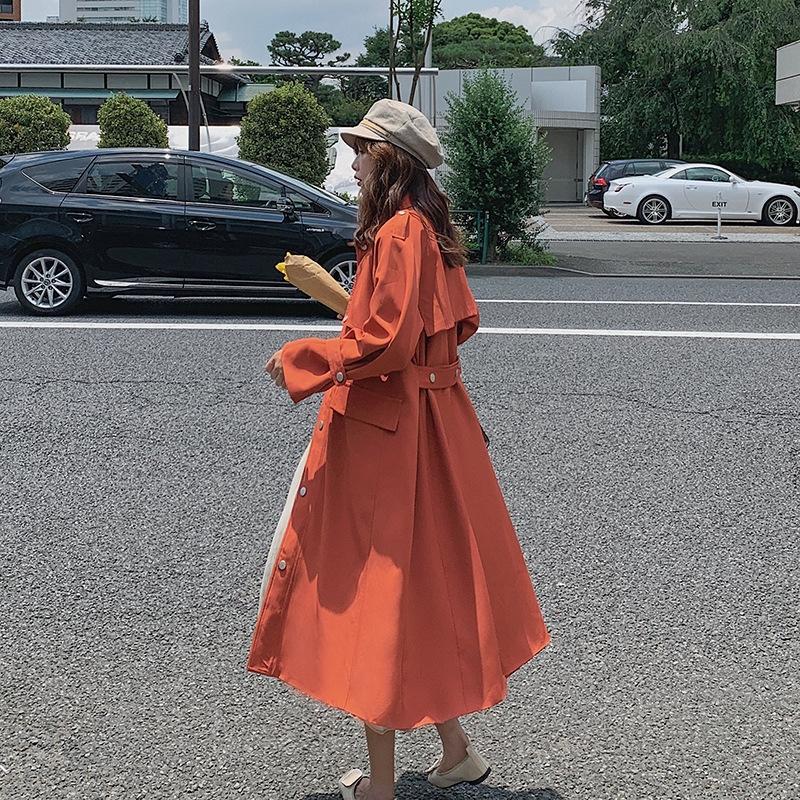 Di lunghezza media di MHmDc giacca a vento Donne waitmore Coat 8qFxa Primavera e Autunno New coreano stile sciolto sopra il ginocchio popolare giacca a vento Hepburn