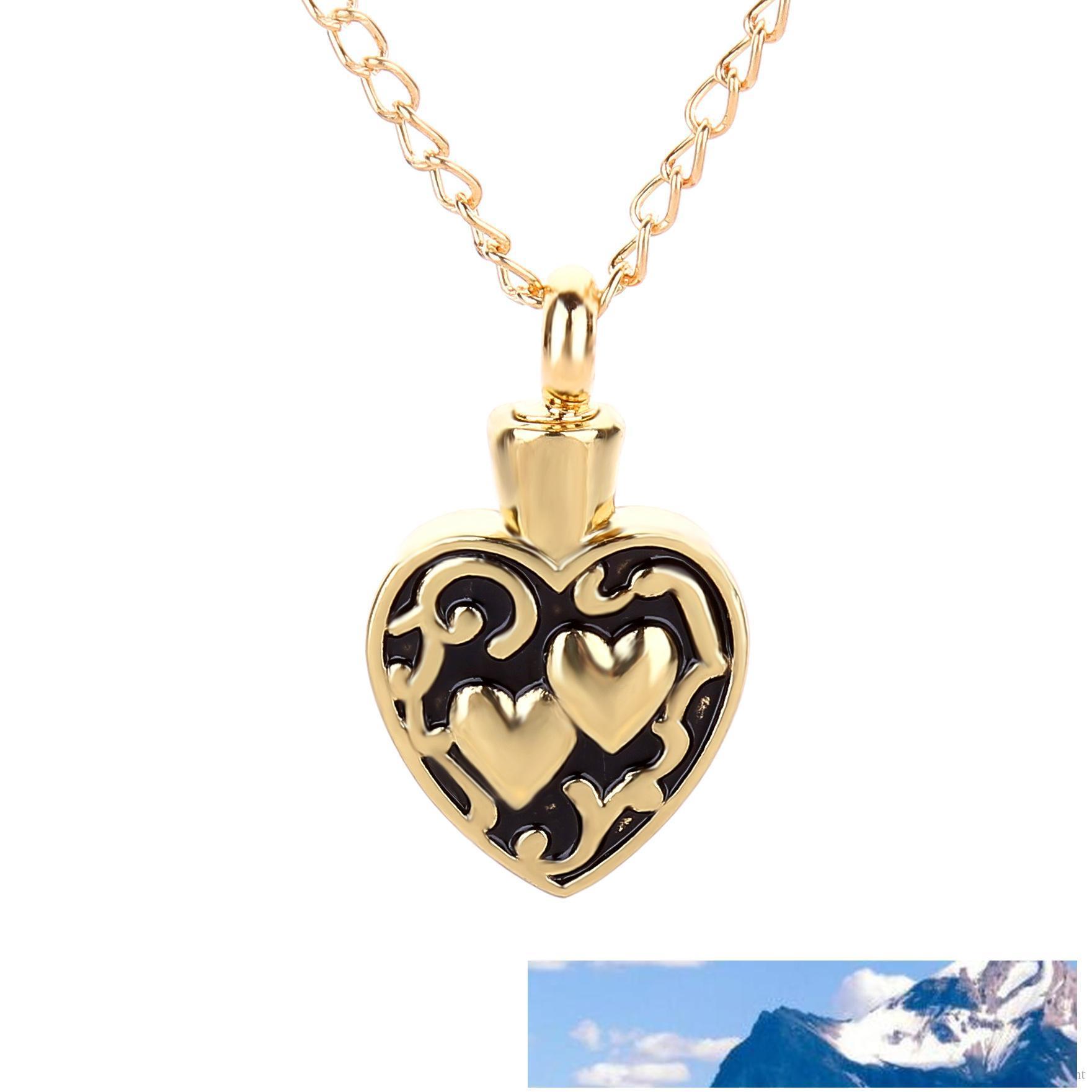 Gioielli in acciaio inossidabile cuore collana amore Memorial cremazione Ashes Urn collana del pendente del Locket Bone Ash Fashion