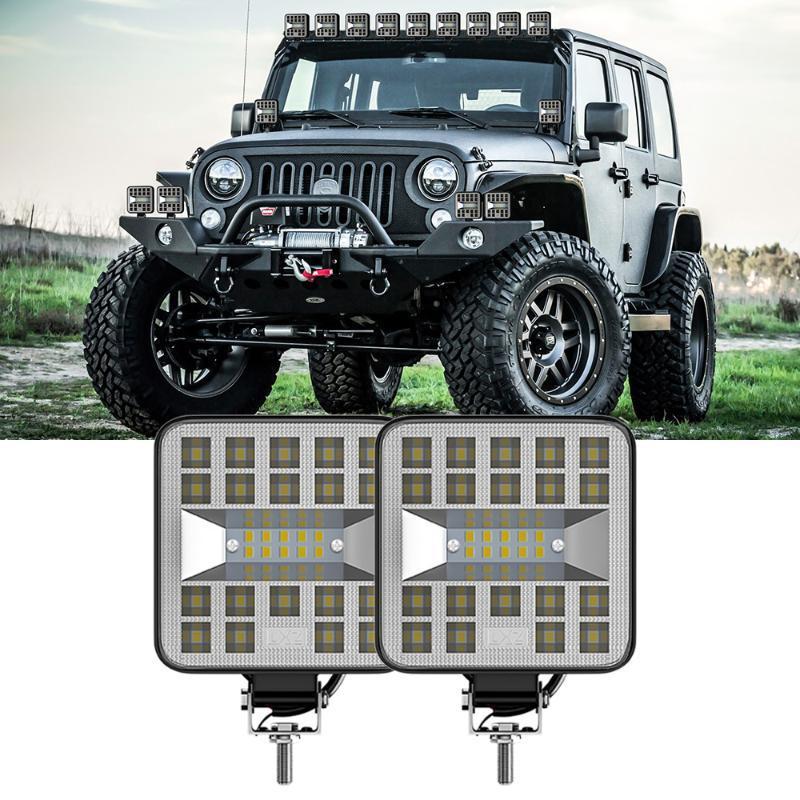 1/2 / 4pcs luz de trabajo del coche Mini Plaza 29LED 87W Off-Road lámpara del vehículo impermeable duradero y práctico de usar