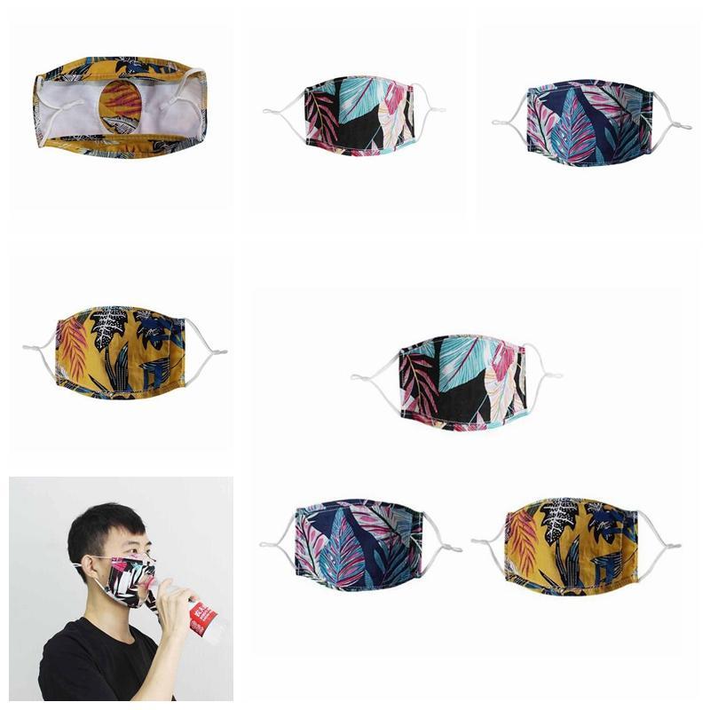 Adulte Masques Anti-poussière Designer visage gouleyant manger Masque Bière Boisson réglable Couverture réutilisable Masques de protection YYA349