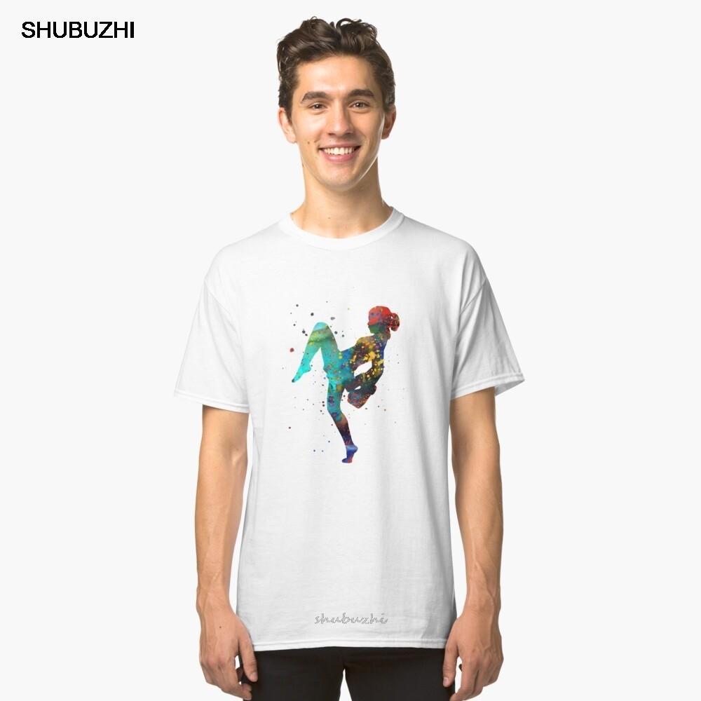 adam için yaz tişört cottm erkekler Lady thai boks muay başında, Muay Thai boks kız Klasik Tişört erkek moda markası teeshirt