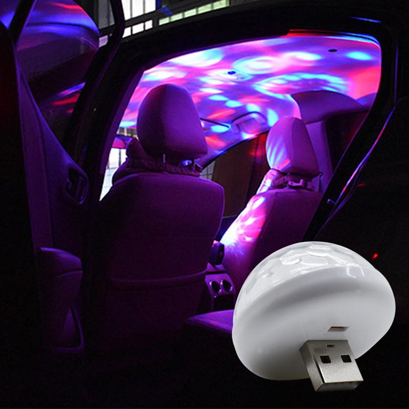 Led USB-Auto-Atmosphäre Licht 5V RGB Mini Romantische 3W Weihnachtsbeleuchtung DJ-Musik-Ton-Lampe für USB-C Telefon Oberfläche Football Genießen
