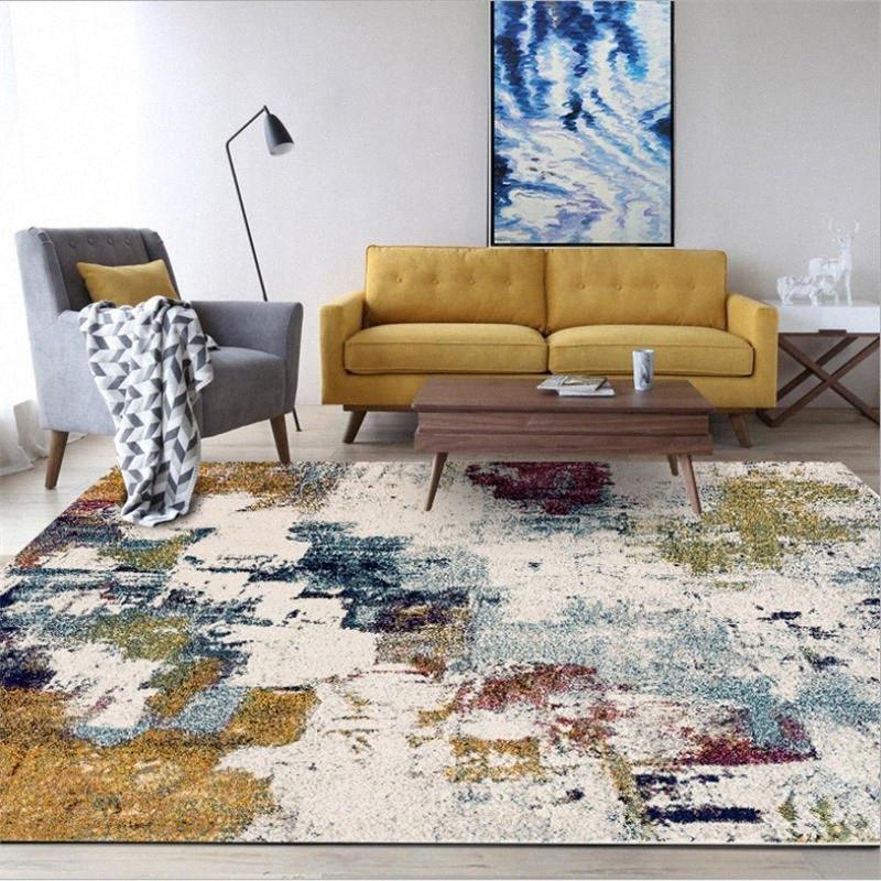 Tapetes para a Sala Europeu Abstract Color Art Oil Painting Pattern Tapete Tapete de Natal tapete de área para o quarto Tapete PhtG #