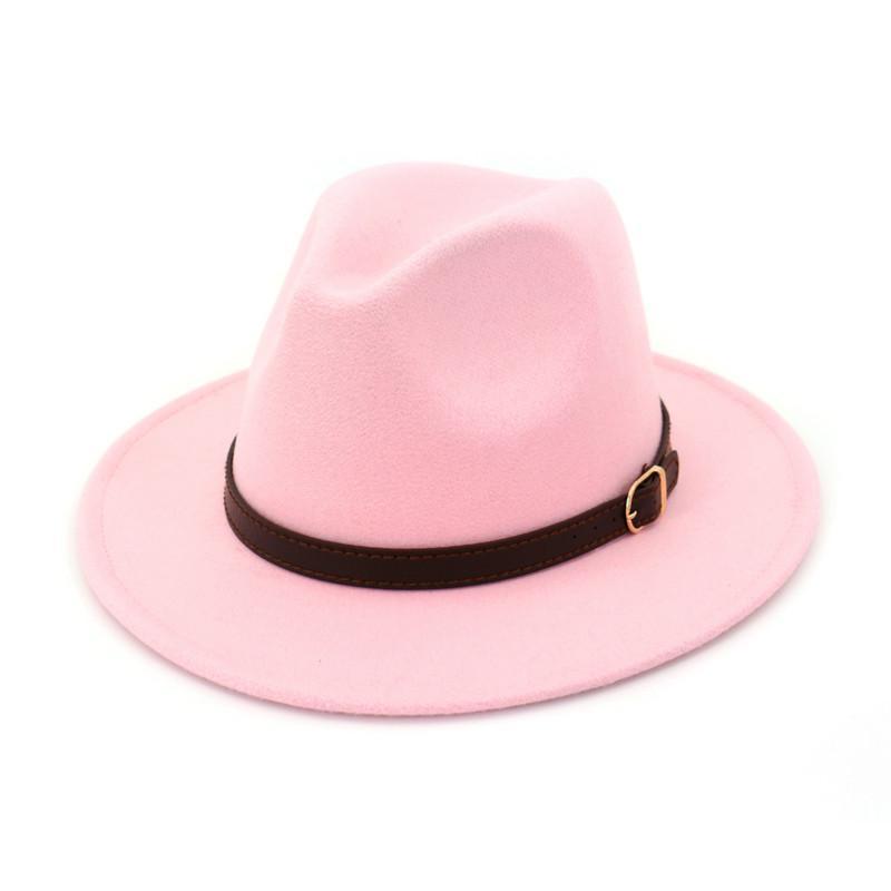 الصوف H7580 الخريف الشتاء قبعة فيدورا الرجال النساء عاشق شقة بريم عصري كاب جاز أنثى ذكر حزب الترفيه ريترو القبعات