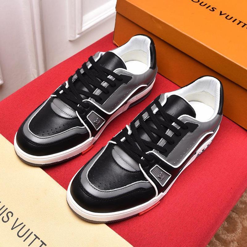 Scarpe Uomo Nuovo Kuitixm goccia della nave del merletto -Fino Vintage Luxury Fashion Low Top allenamento confortevole classico di modo Skateboarding Casual Shoes
