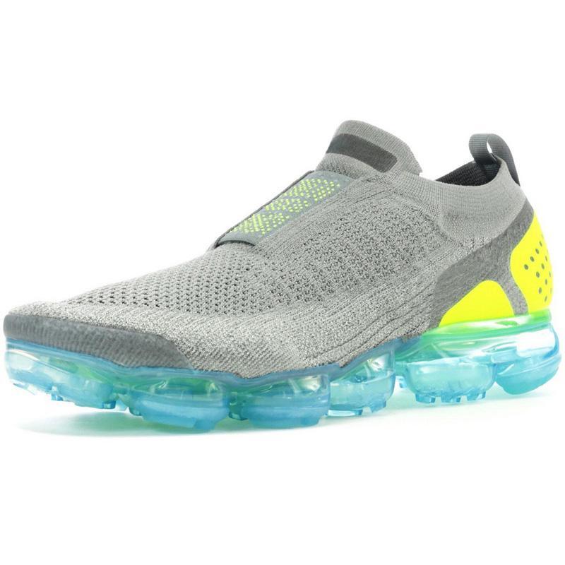 MOC 2 Laceless Bırakma Erkekler Koşu Ayakkabıları Kadın Eğitmenler Oreo Spor Üçlü Siyah Beyaz Işık Krem Racer Gunsmoke Sneakers