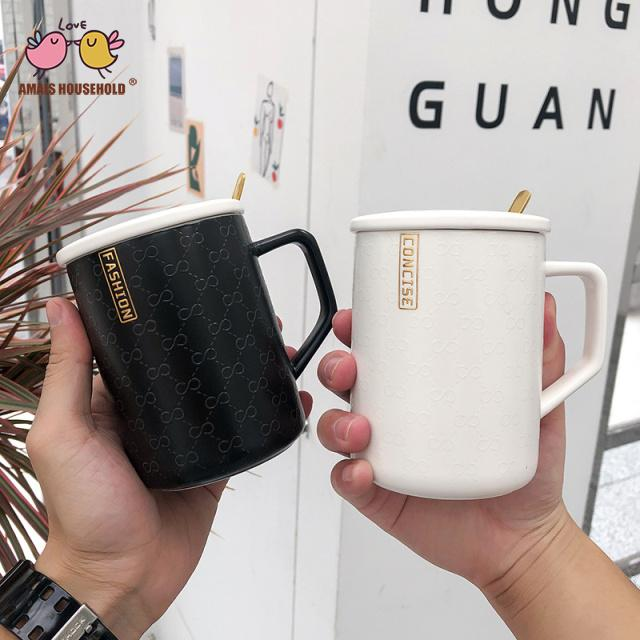 375ml Nordic Style Fashion White Office Use Coffee Mugs For Girlfriends Gifts and Home Decor