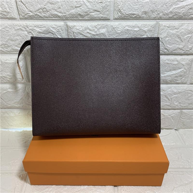 26 см Сумки сцепления Туалетные комплексные сумки сумки кошельки Мужчины кошелек женская кожаная сумка на плечо сумка для карт держатель цепочки ключа пакеты N47542 с мешками