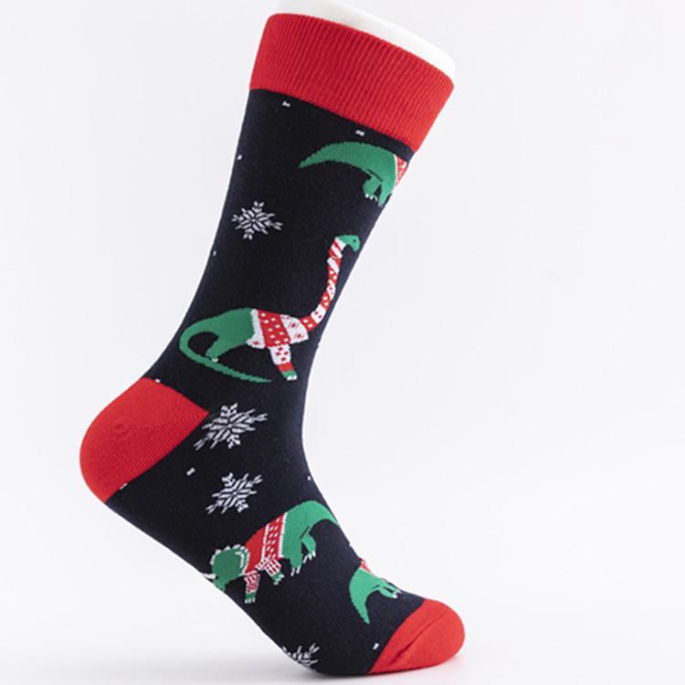 Christmas socks cartoon Stocking Women Men Casual Cartoon Christmas Stocking Happy New Year Xmas Sport Home festival Socks FFA4366-4