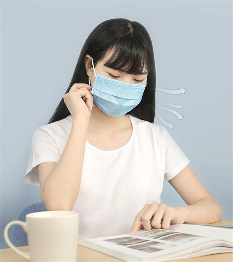Couche 3 (50 Pack épais) Masques poussières respirables Earloop Masque Masque sanitaire confortable # 8701