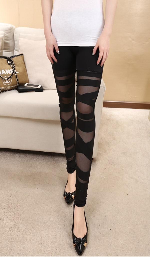 NtNIZ 2019 весной новые лосины женщин внешняя одежда связывания сшивание брюки девятых брюки девять Плотные волокна бамбука ремешок девять очков леггинсы