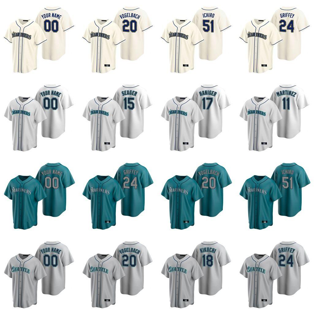12 Evan White Jersey Womens Yoshihisa Hirano 19 Jay Buhner 1 Tim Beckham 35 Cory Gearrin Ken Griffey Jr. Baseball Jerseys Custom Stitched