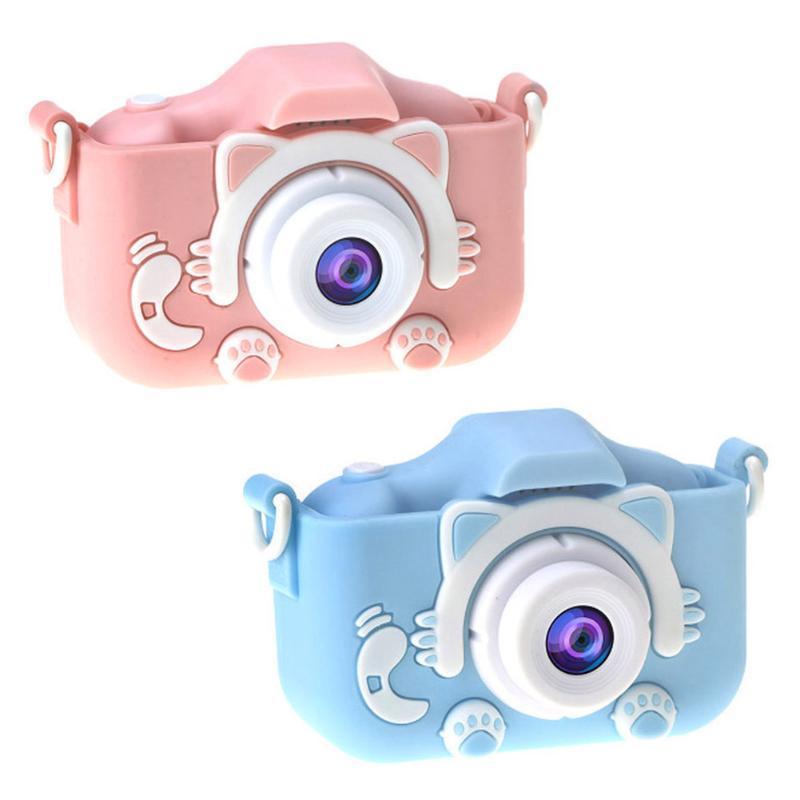 Şarj edilebilir Çift Kamera Hd Çocuk Kameranın 2000w Dijital Video Kaydedici Kamera Fotoğraf Oyuncak Çocuk Doğum Hediye