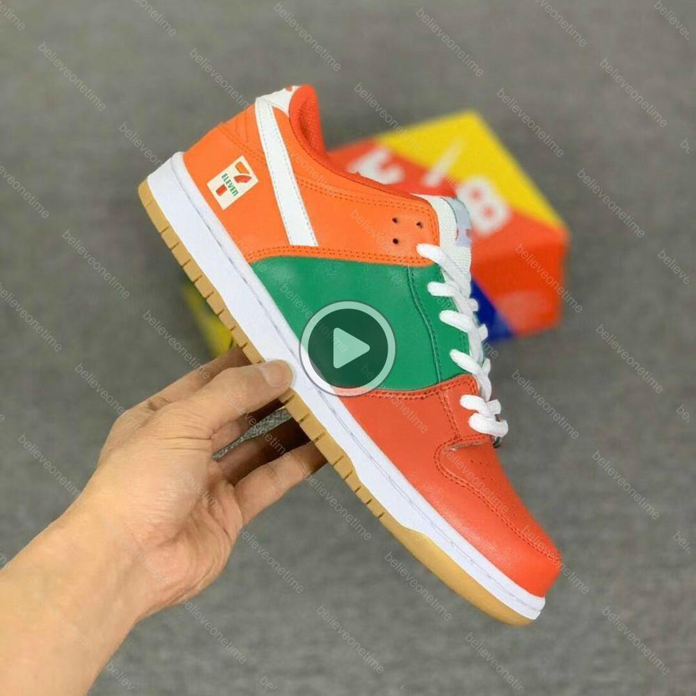 Dunk Low SB 7-Eleven 7 Scarpe 11 squadre Crimson Uomini Donne esecuzione di DESIGNER Trainer scarpe da tennis con la scatola Dimensioni 12 FQN8