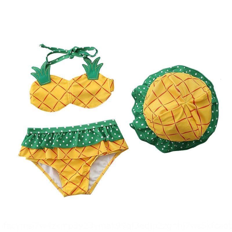 diviso carino ananas e le ragazze del bambino ragazze spaccatura carino costume da bagno di ananas per bambini e costume da bagno del bambino per i bambini