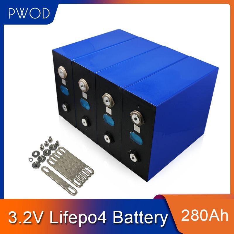 3.2V lifepo4 280ah prismatisches Batteriepack für 12V 24V 36V 48V280AH Sonnensystem EV RV Lithium-Eisen-Phosphat-Zellen-EU US TAX FREE