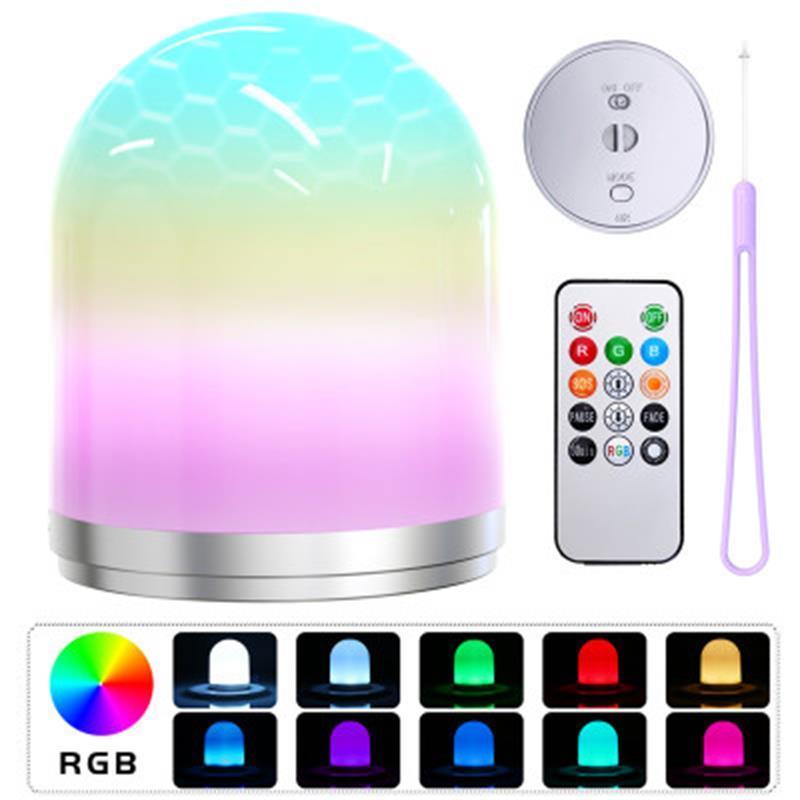 2020 USB-LED-Nachtlicht bunte Nacht Lampen LED RGB-Farbwechsel Schreibtischlampe Hauptdekor für Nachttischleuchte