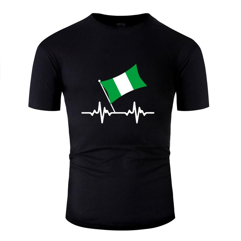 Güneş ışığı Tişört Man% 100 Pamuk Şirin Müthiş Boy Kız Nijerya Heartbeat Tişörtler Gents CAMISAS Gömlek oluştur
