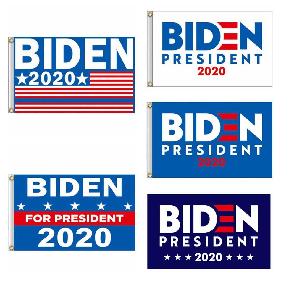 150 * 90cm 조 바이든 해리스 신고 2020 미국 선거 배너 폴리 에스터 가든 파티 장식 LJJP401 매달려 미국 국기 Pritend 공급
