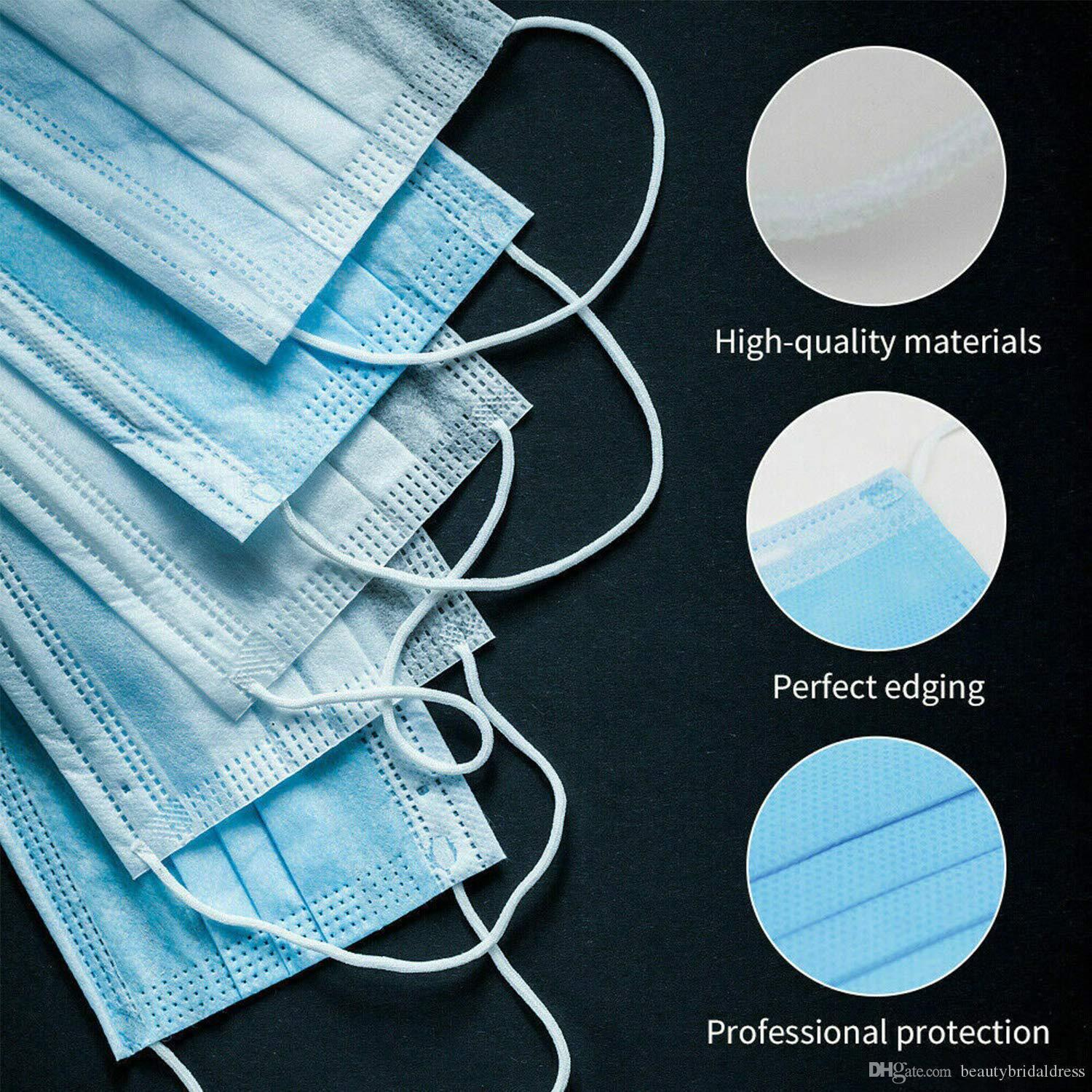 Layer Filter Masks Stock Non Earloops Breathable Disposable Ply Ejhjc 3 Mask Face US Mask Wove Clearance Mouth Iqfel