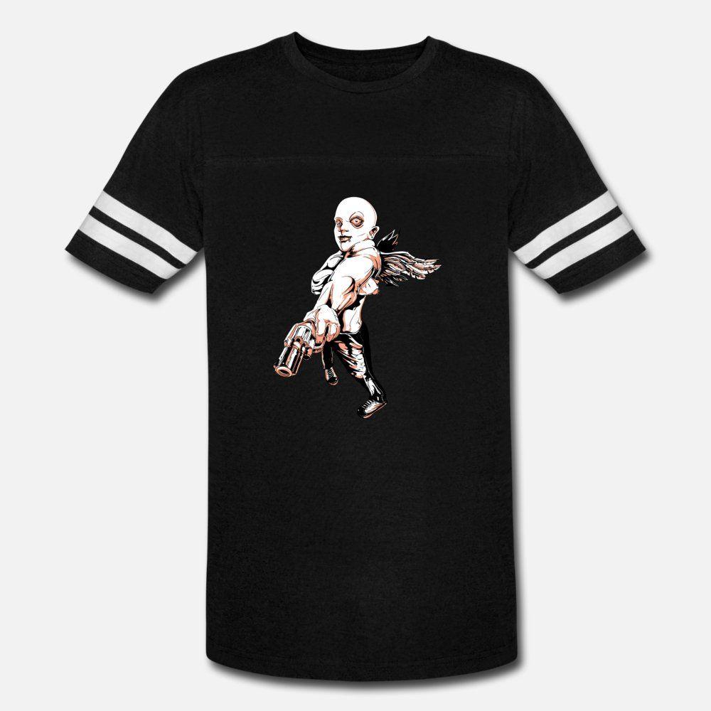 Männer Bad Amor T-Shirt drucken Baumwolle Euro-Größe S-3XL Jahrgang Berühmte neue Art-Sommer-Muster-T-Shirt
