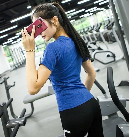 Schnell Frühling und Mantel T-Shirt Top-Sommer hohe Elastizität eng atmungsaktive Sport- schnelltrocknend kurze Ärmel Fitness Laufbekleidung T-Shirt