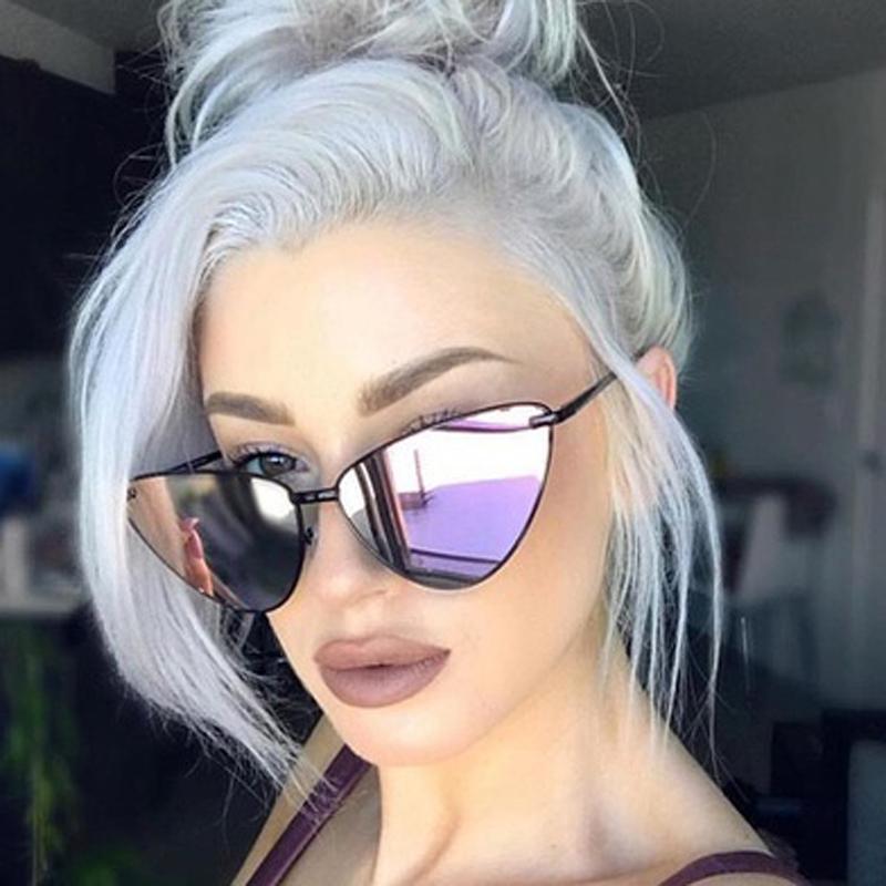 Новая мода Классический Small Vintage Cat Eye солнцезащитные очки женщин сексуальный ретро красный черный Cateye Солнцезащитные очки Женские женские Cateyes очки