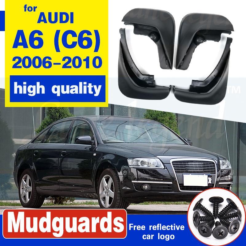 Accessoires 4pcs / Set pour Audi A6 (C6) 2006 2007 2008 2009 2010 Sedan BOUE Rabats Splash Guard Garde-boue
