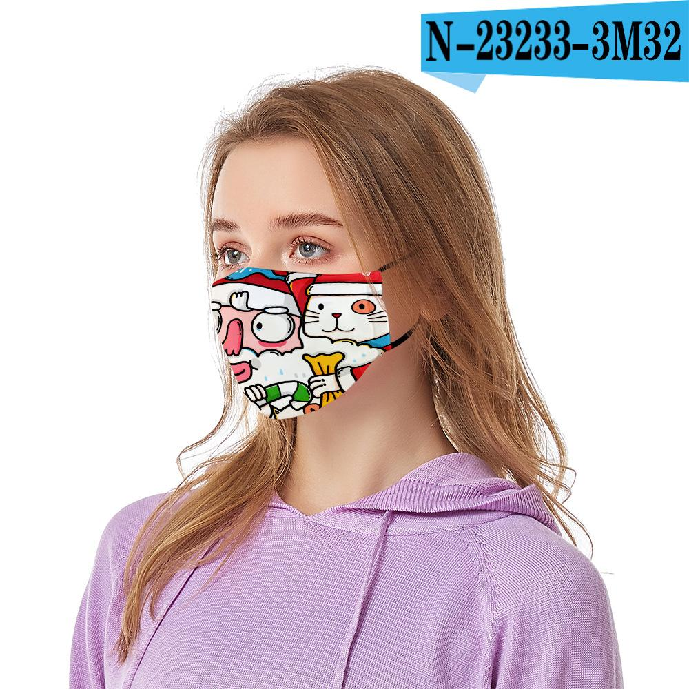 Маски Дизайн рождественские маски Санта-Printed Xmas лица против пыли Снежинка Рождество Mouth Обложка моющийся многоразовый с масками фильтры DHL