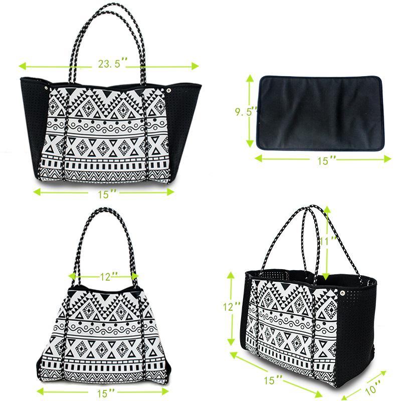 New-Hot vente femmes néoprène fourre-tout de plage lilly sac pulitzer sac à main imprimé floral dame sac à bandoulière de mode en néoprène