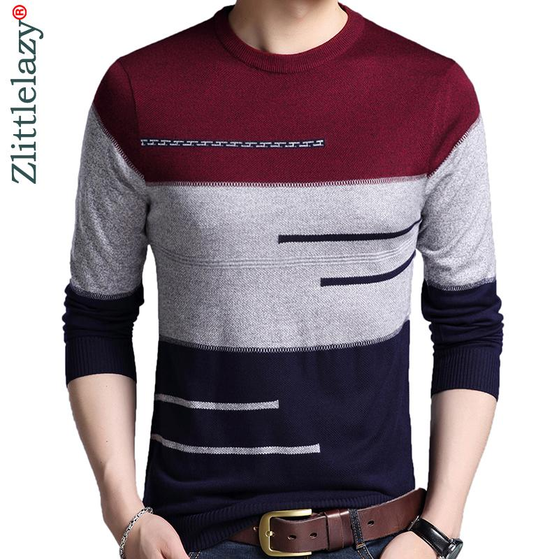 2020 Marque Homme Pull Homme tricoté Jersey rayé Pulls Hommes Vêtements Tricot Sueter Hombre Camisa Masculina 100