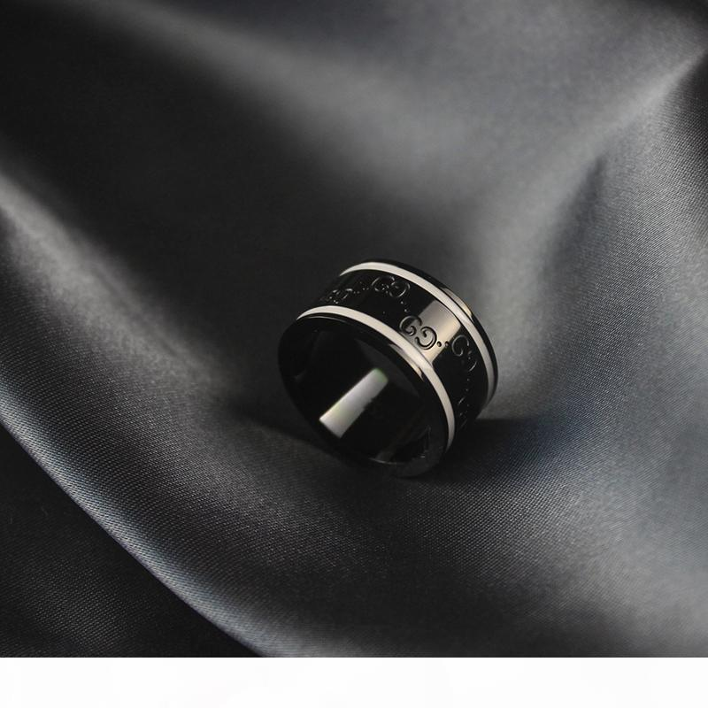 homme design classique femmes anneaux large ins chaud rose bijoux de mariage de fête d'anneau d'or