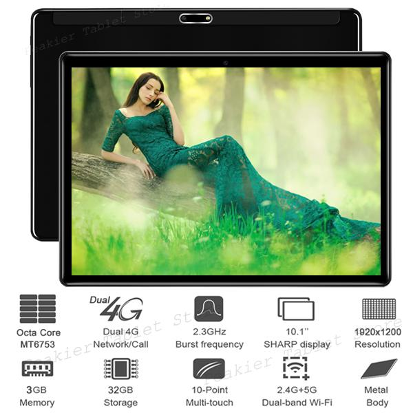 Dual Glass 4G LTE Phone Call Dual SIM Cards Octa Core 10 inch Tablet PC 1920*1200 IPS 3+32GB WIFI GPS 2.5D Tempered Glass+Gifts