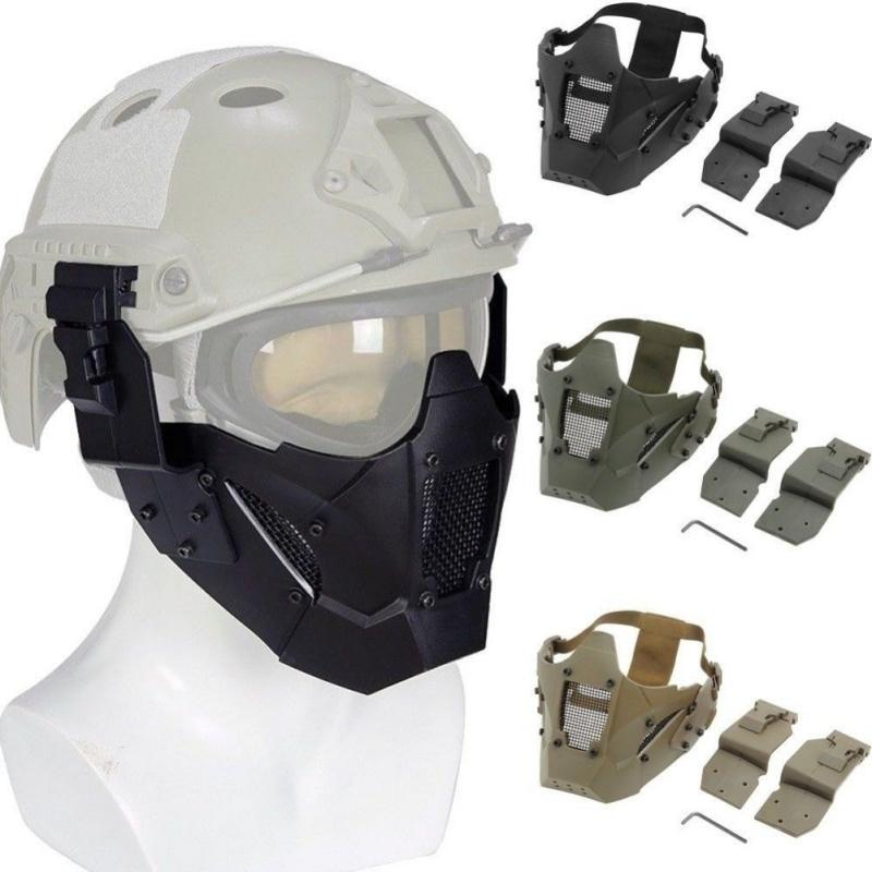 Велосипед Новый Airsoft Мужчины Тушь Открытый Балаклава Зимняя маска MA-95 Iron Warrior Half Face Модуль Tactical маска1