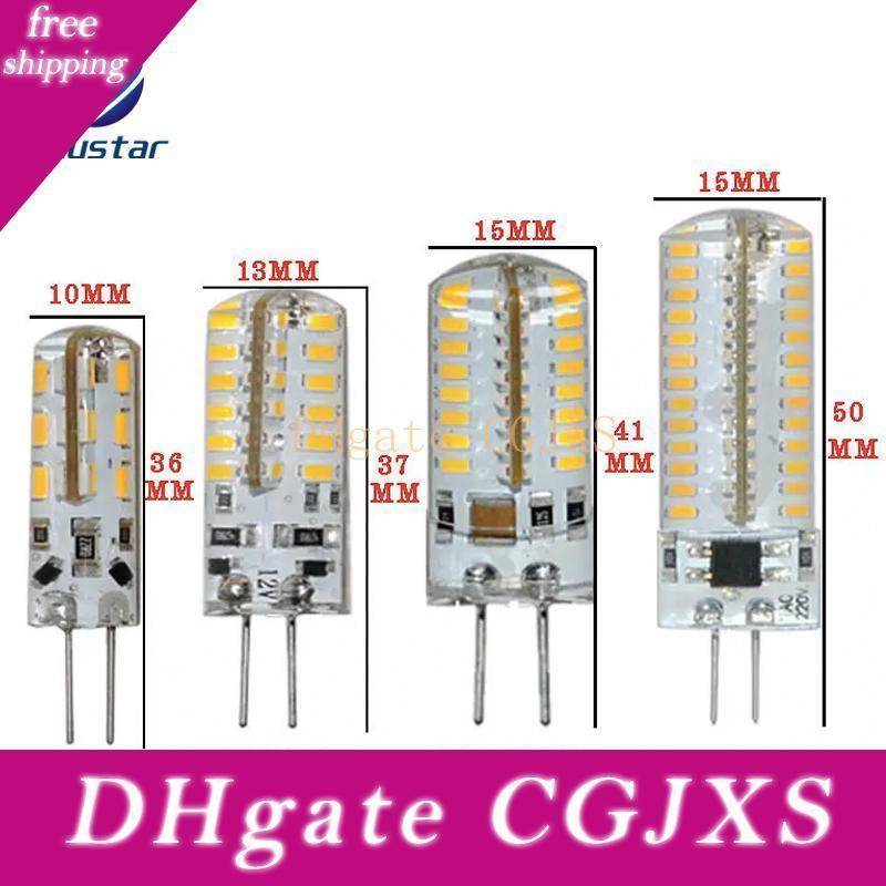 G4 lâmpadas LED G9 lâmpada de iluminação AC / DC12V / 220V / 110V LED lustres de cristal ilumina SMD3014 silicone g4 levou decoração da lâmpada local