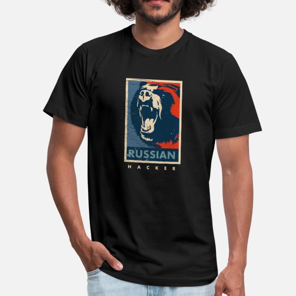 Vintage Rus Hacker Sovyet Siber Güvenlik t gömlek erkekler Tasarım tişört S-XXXL ince Grafik Nefes Bahar Resimleri gömlek