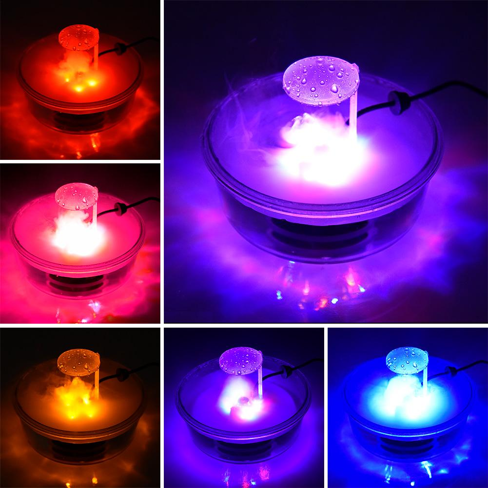 Halloween witch pot fog machine lighting atomizer lamp plastic color changing atmosphere lamp scene layout DIY Halloween decoration lighting